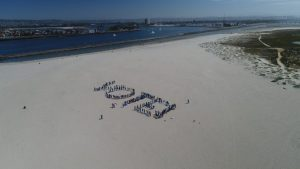 OB's 'Vote' Human Chain Captured in Drone Images