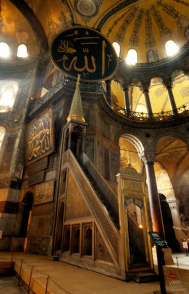 Hagia Sophia, Minbar, Istanbul, Turkey
