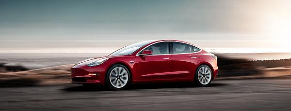 Red Model 3 Tesla