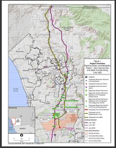 Map showing SDG&E pipeline 3602
