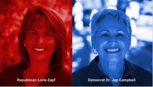 Follow the Money in the 'Rough and Tumble Race' Between Jen Campbell and Lorie Zapf for District 2