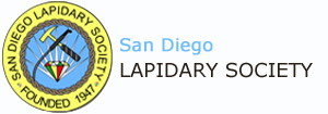 This is the website logo for San Diego Lapidary Society