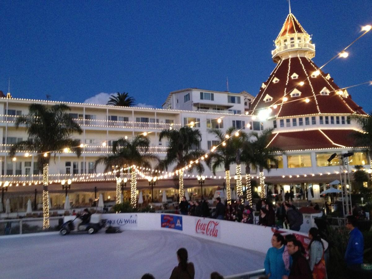 Ice Skating Hotel Del Coronado San Diego
