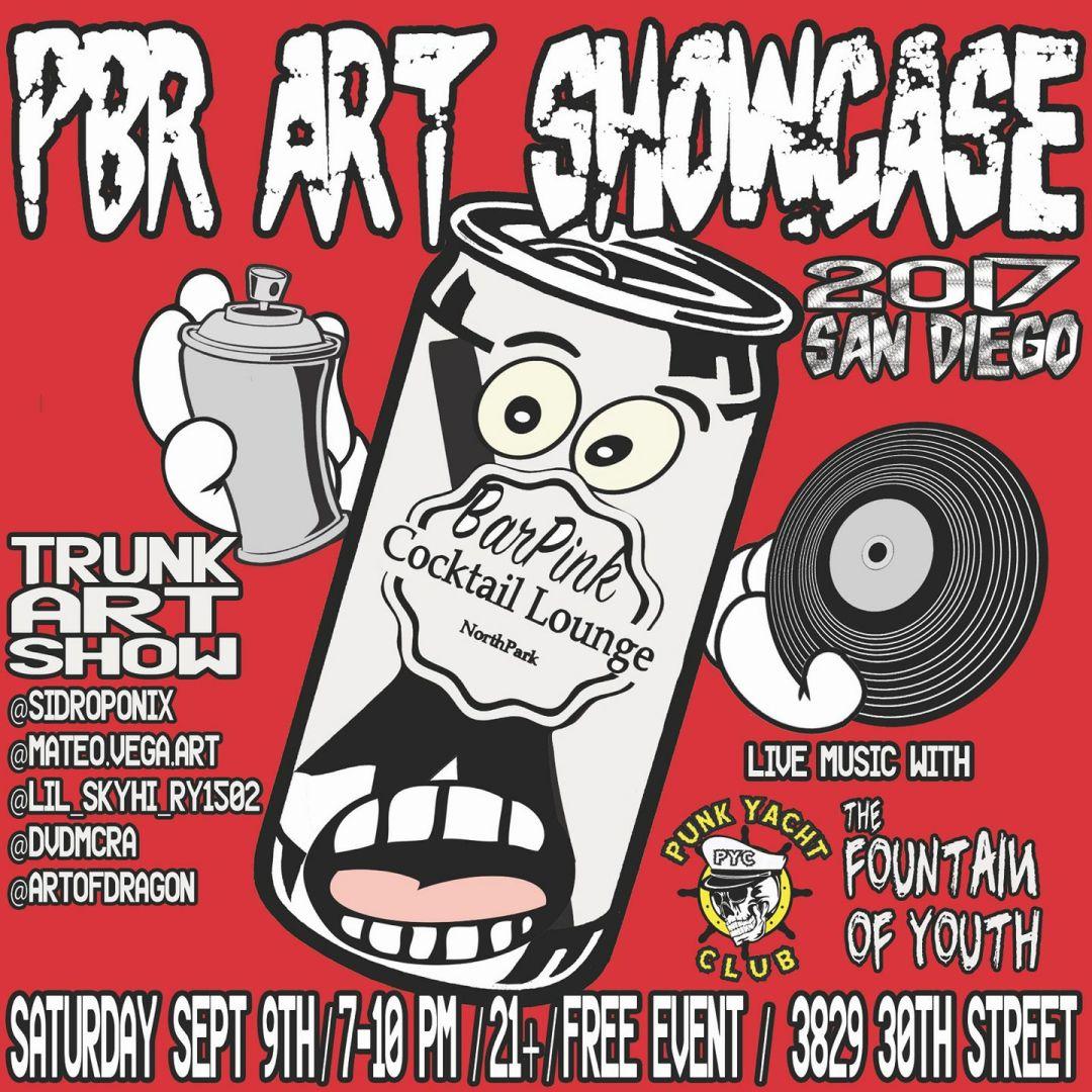 PBR Art Showcase with Punk Yacht Club - San Diego Punk