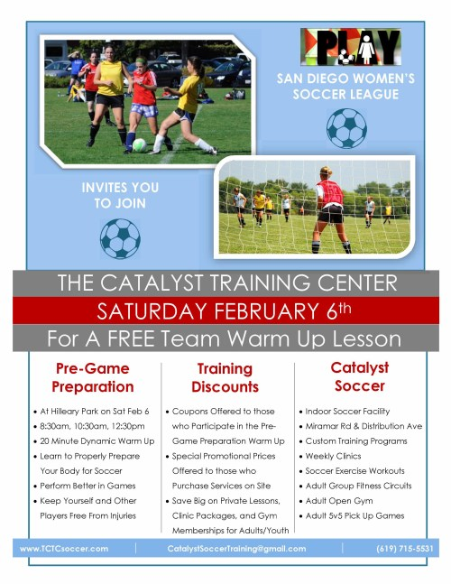 TCTC Warm Up Lesson Flyer