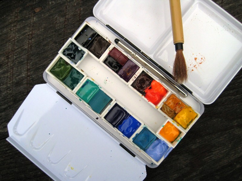 First time to use travel box - yummy clean colors - this is the last time it will look like this!