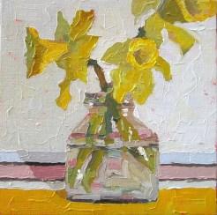 butter cups, sandi hester, 8x8 oil