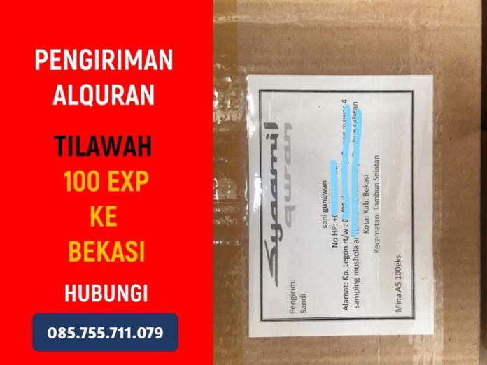 Grosir Alquran, Mengirim 100 Alquran Tilawah Syaamil Quran A