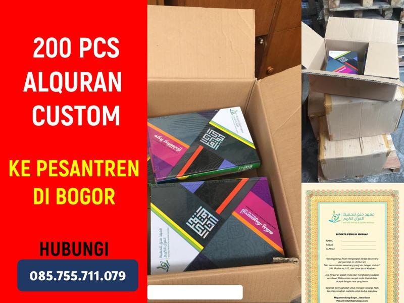 Pesanan 200 Alquran Asy-Syaamil Custom GROSIR ALQURAN
