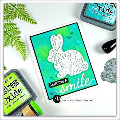Filigree Bunny Card