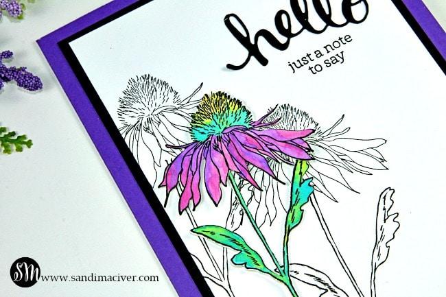 Simple Distress Oxide Watercolor Flower Garden