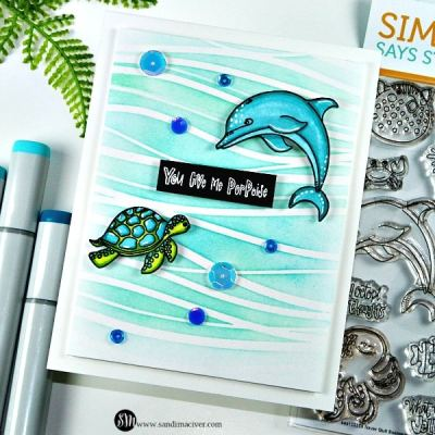 Never Quit Swimming – Dolphin Card