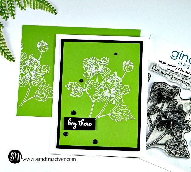 Sweet Friendship Gina K Designs Heat Embossed Card