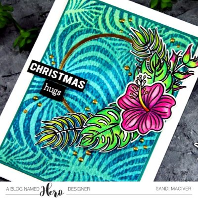 Tropical Flowers and how to create a Batik Background