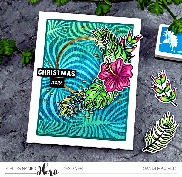 Hero Arts Tropical Flowers and how to create a Batik Background