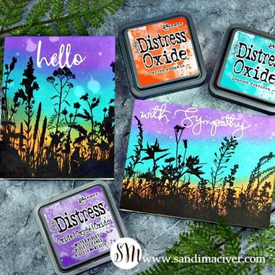 Distress Oxide Inks and Wildflowers