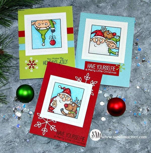 My Favorite Things Christmas Selfies group 2