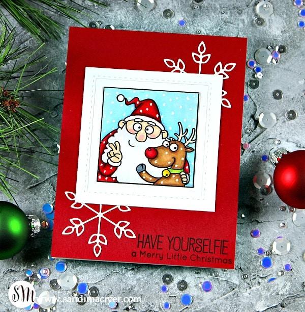 My Favorite Things Christmas Selfies santa and rudolf