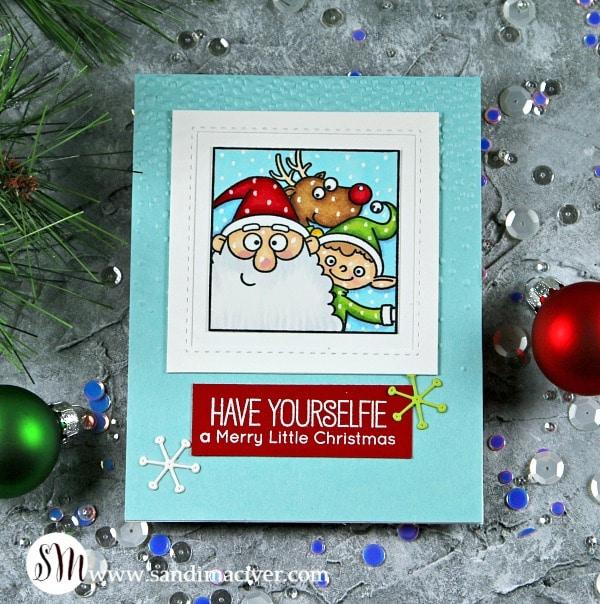 My Favorite Things Christmas Selfies santa, elf, reindeer