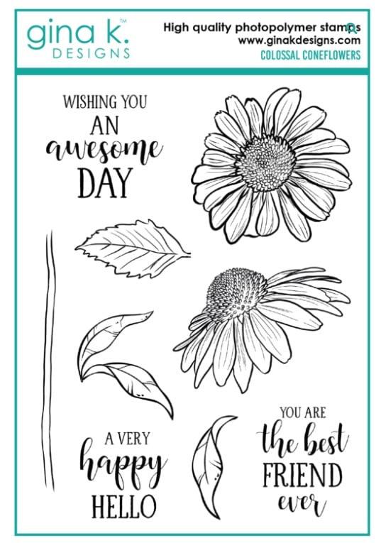 Gina K Designs Colossal Cone Flower Stamp Set