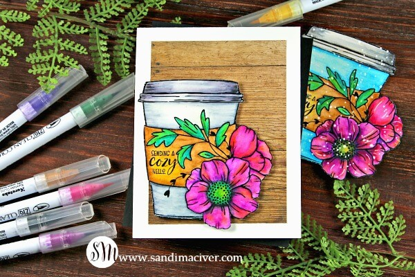 Gracielli Design Cuddle in a Cup 2 with Zig Markers