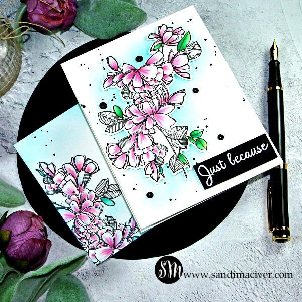 Pinkfresh Studio Blue and Pink Fuchsia