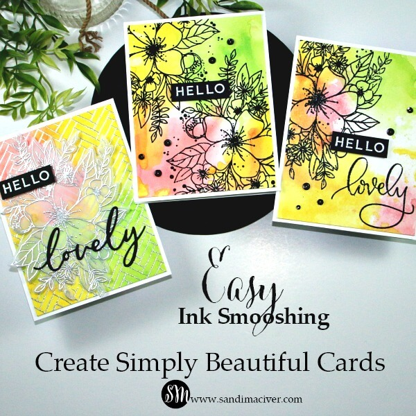 Easy Ink Smooshing 1 with Concord & 9th Hello Lovely