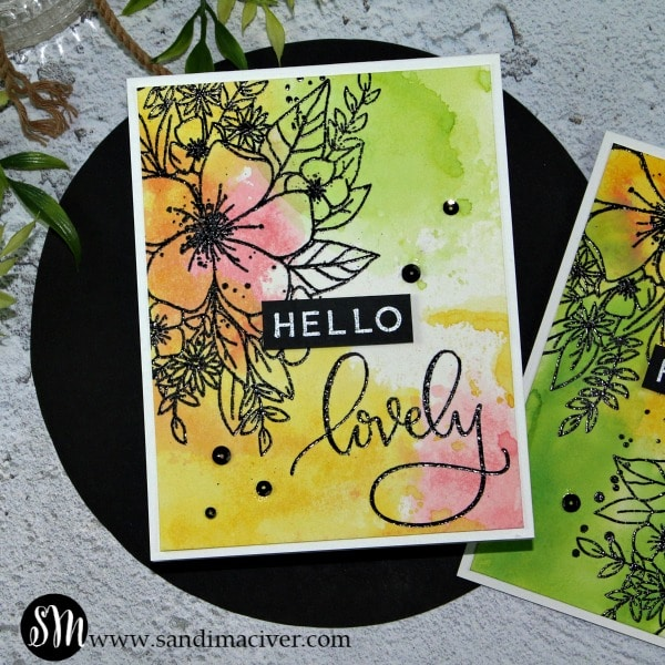Concord and 9th Hello Lovely and the Easy Ink Smooshing