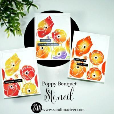 Poppy Bouquet Stencil Part 2
