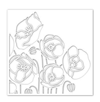 SImon Says Stamp Poppy Bouquet Stencil