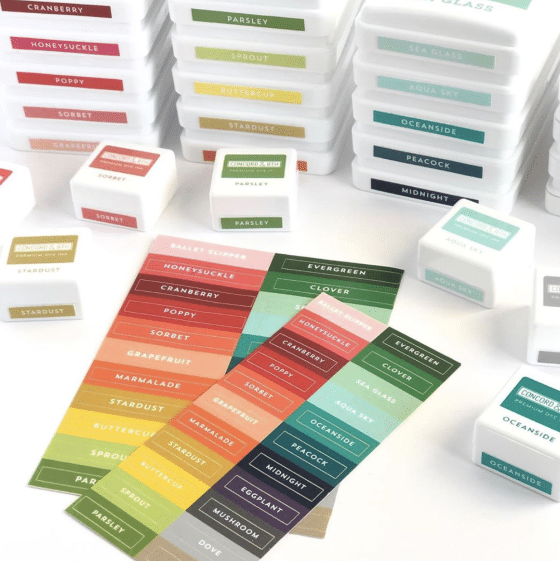 Concord and 9th NEW Colors - ink pad labels