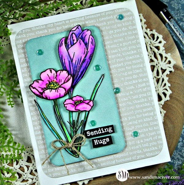 SImon Says Stamp thoughtful Flowers