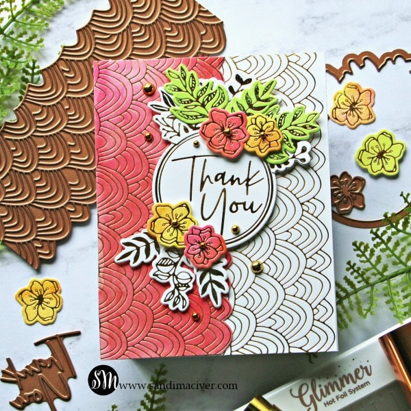 Spellbinders Stylish Script Collection Pink 600
