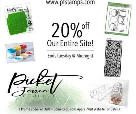 Picket Fence Studios 20 off Presidents Day Sale