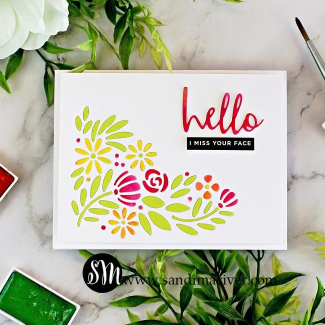 Simon Says Stamp Spring Blooms Corner Card