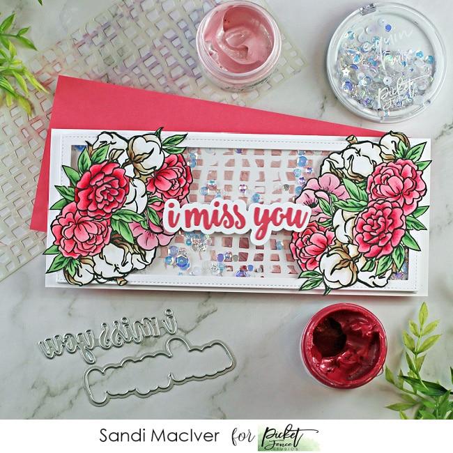 A Bride's Bouquet Slimline Shaker card