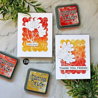 Distress Oxide Inks Color Combos and Cards #6