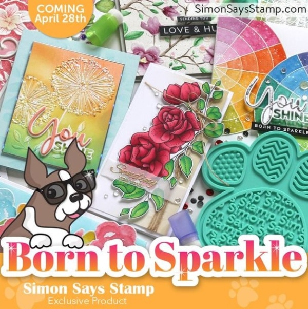 images of new products from the Simon Says Stamp Born to Sparkle Release