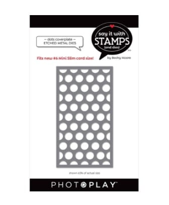 image of photoplay number 6 dots coverplate die
