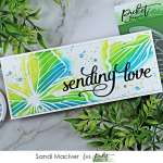 handmade slimline card created with the Picket Fence Studios Soar Butterfly Stencil