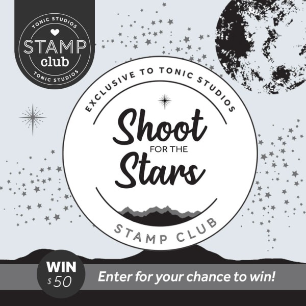 shoot for the stars stamp and die set for card making and papercrafting from Tonic Studios