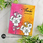 hand made card using Tim Holtz Distress Oxide Inks and Ellen Hutson Pressing Thoughts stamp set