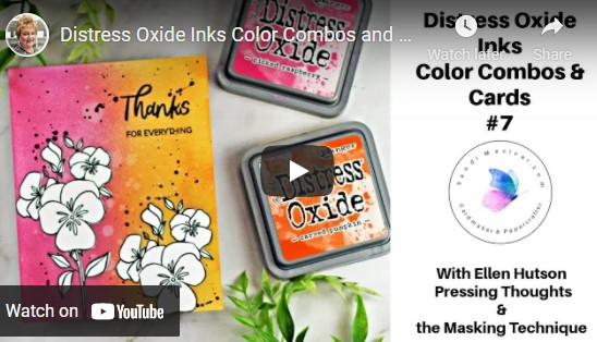 cardmaking video tutorial on Tim Holtz Distress Oxide Inks Color Combos and Cards