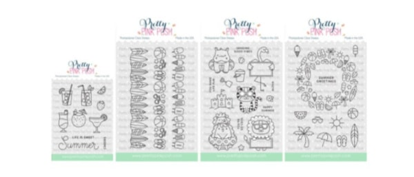 new card making stamps from Pretty Pink Posh