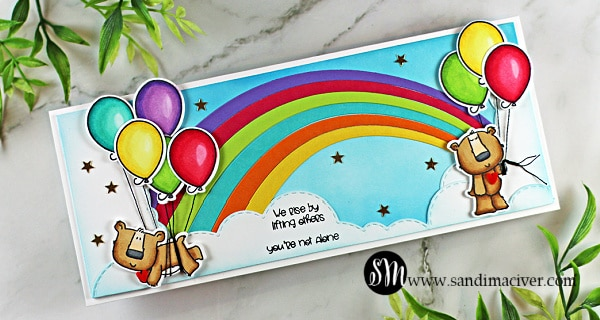 handmade slimline card created with cardmaking supplies from Trinity Stamp Company