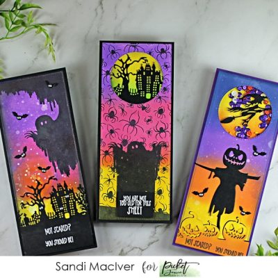 New Video Trick or Treating Slimline Halloween Cards