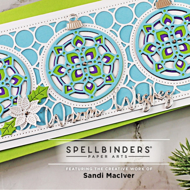 die cut sentiment for the Kaleidoscope handmade card
