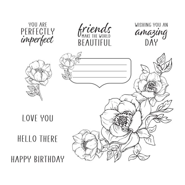 spellbinders floral images stamp set for the Clear Stamp Set of the Month Club