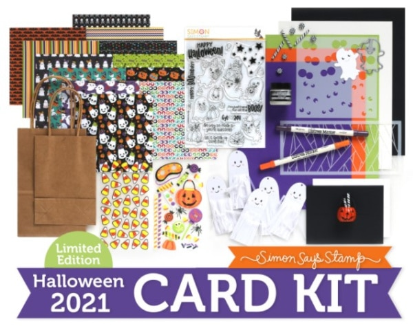 halloween card kit full of cardmaking and paper crafting supplies from Simon Says Stamp