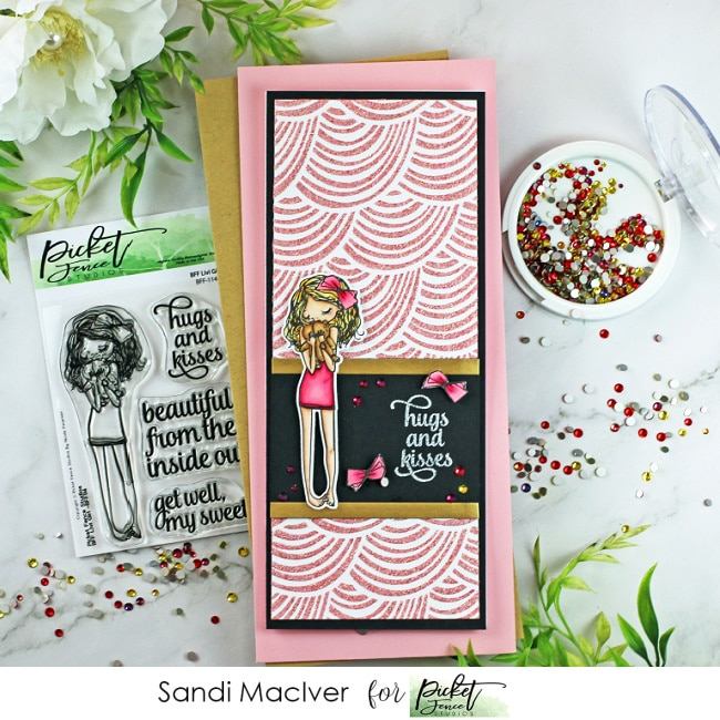 BFF Livi Girl stamp and Die combo for cardmaking from Picket Fence Studios